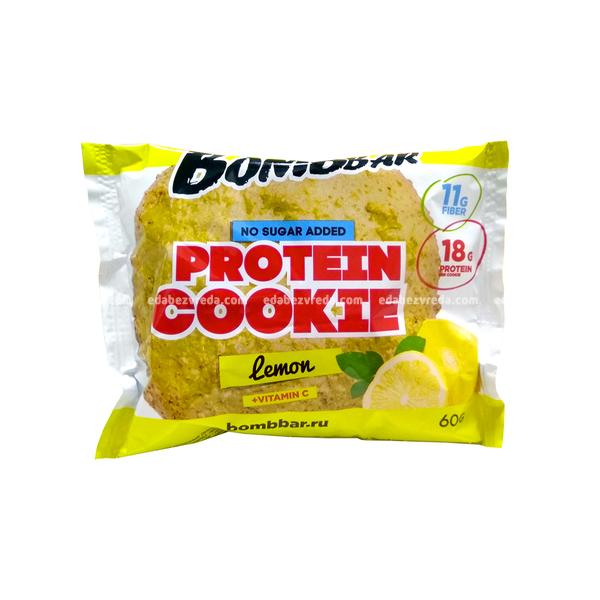 Печенье протеиновое BOMBBAR Лимон, 60 г