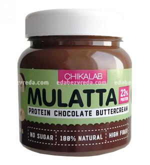 Паста MULATTA Chikalab Шоколадная с фундуком, 250 г.);
