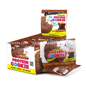 Печенье протеиновое BOMBBAR Шоколадный брауни, 40 г);