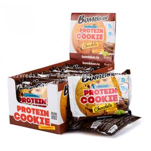Печенье протеиновое BOMBBAR Шоколад, 60 г);