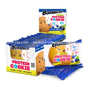 Печенье протеиновое BOMBBAR Смородина-Черника, 40 г);