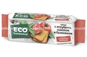 Крекеры Eco Botanica c отрубями, томатом и базиликом, 175 г
