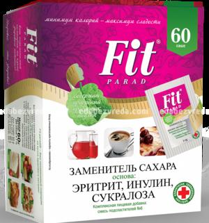 Заменитель сахара FitParad №6, 60 шт.);