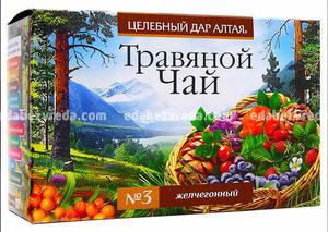 """Травяной чай """"Целебный дар Алтая"""" №3 Желчегонный, 20 ф.п.);"""