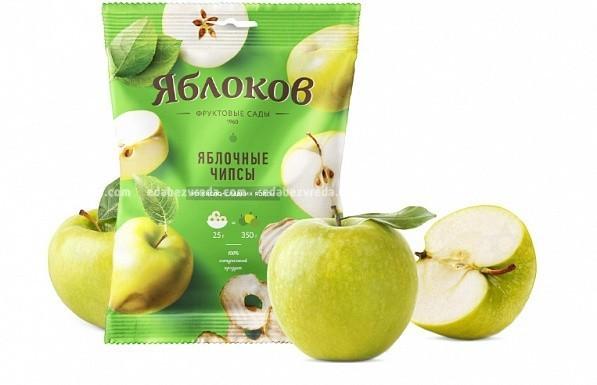 """Яблочные чипсы натуральные """"Яблоков"""" из кисло-сладких яблок, 25 г"""