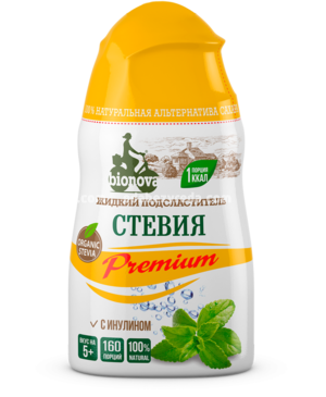 """Подсластитель """"Бионова"""" Стевия Premium жидкий, 80 г.);"""