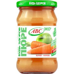 """Пюре яблочно-морковное """"Будь Здоров"""" ABC, 280 г.);"""
