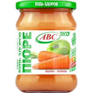 """Пюре яблочно-морковное """"Будь Здоров"""" ABC, 450 г.);"""