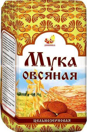 """Мука овсяная цельнозерновая """"Дивинка"""", 500 г.);"""