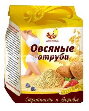 """Отруби """"Дивинка"""" овсяные, 400 гр);"""
