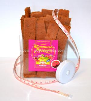 "Яблочные палочки ""Фитнес"" без сахара ""Вологодская мануфактура"" Малина, 150 г);"