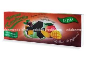 """Конфеты желейные """"Умные сладости"""" без сахара Манго-маракуйя в глазури, 105 г"""