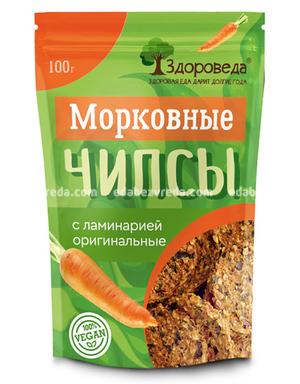 """Чипсы морковные """"Здороведа"""" с ламинарией, 100 г.);"""