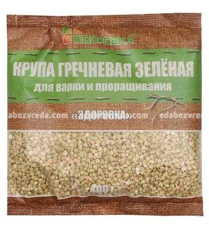 """Греча зелёная """"Здоровка"""", 400 г.);"""