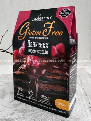 Смесь для выпечки POLEZZNO Панкейки черёмуховые, 260 г.);