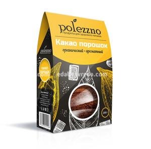 Какао-порошок натуральный POLEZZNO, 200 г.