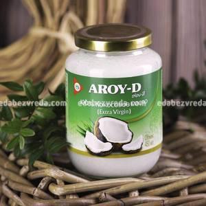 Кокосовое масло AROY-D Extra Virgin, 450 мл.);
