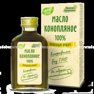 """Масло конопляное """"Компас Здоровья"""", 100 мл.);"""