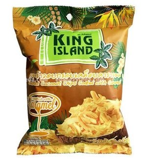 Кокосовые чипсы King Island с карамелью, 40 г);