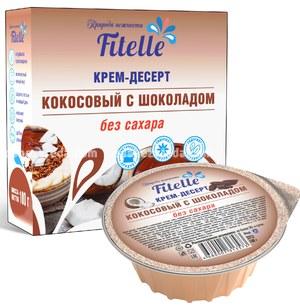 """Крем-десерт Fitelle """"Кокосовый с шоколадом"""", 100 г);"""