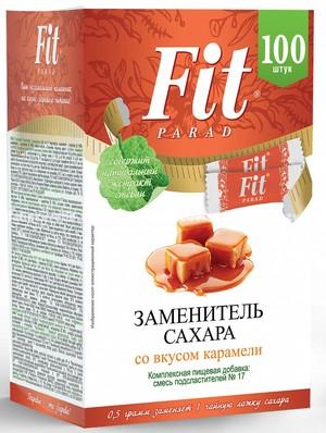 Заменитель сахара в стиках FitParad №17 Карамель, 100 шт.
