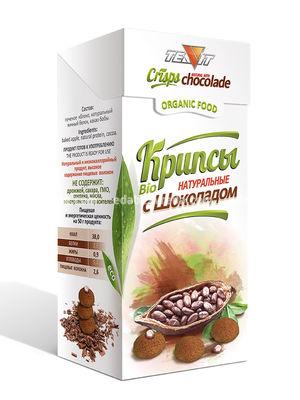 Крипсы Яблочные с Шоколадом TEAVIT (нежные сухарики), 30 г.);