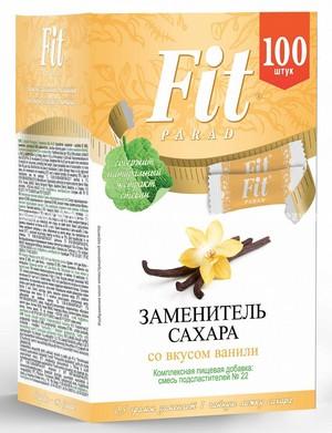 Заменитель сахара в стиках FitParad №22 Ваниль, 100 шт.