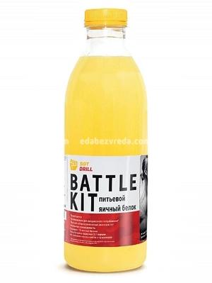 Яичный белок Battle Kit пастеризованный, 500 мл);