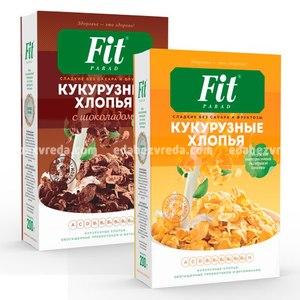 Хлопья кукурузные Шоколадные FitParad на стевии, 200 г
