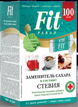 Заменитель сахара в стиках FitParad №10, 100 шт.
