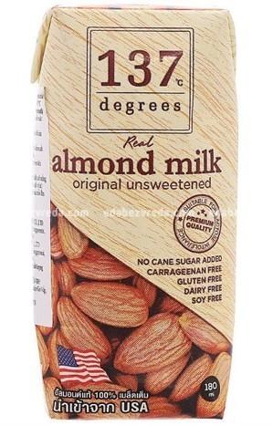 Миндальное молоко 137 Degrees, 180 мл);