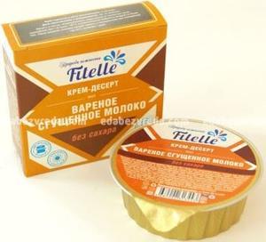 """Крем-десерт Fitelle """"Варёное сгущенное молоко"""", 100 г);"""