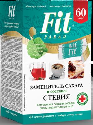 Заменитель сахара в стиках FitParad №10, 60 шт.);