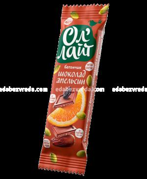 """Батончик """"Ол`Лайт"""" Шоколад & Апельсин, 30 г."""