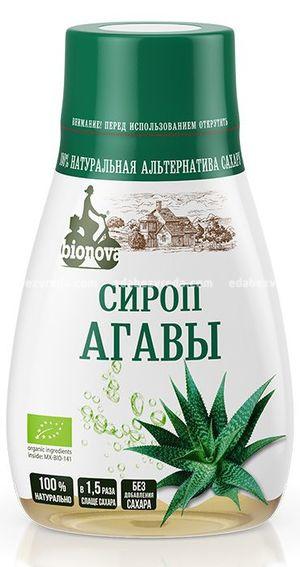 Органический сироп Bionova из агавы, 230 мл);