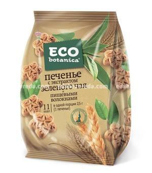 Печенье Eco Botanica с экстрактом зелёного чая и пищевыми волокнами, 200 г