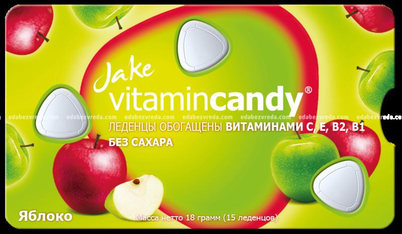 "Леденцы Jake без сахара ""Яблоко"", 18 г"