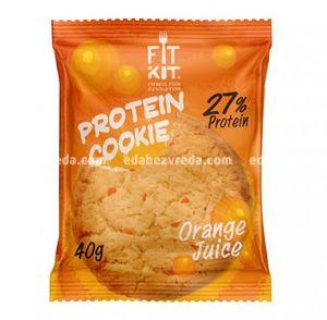 Протеиновое печенье Fit Kit Protein Cookie Апельсиновый сок, 40 г.);