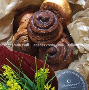 Низкоуглеводные улитки Excess Free Cafe с корицей, 200 г);