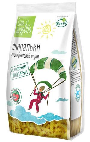 """Макароны """"Ешь здорОво"""" Спиральки амарантовые, 250 г.);"""