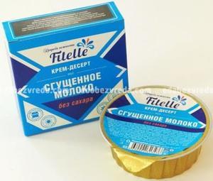 """Крем-десерт Fitelle """"Сгущенное молоко"""", 100 г"""