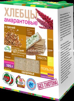 Хлебцы амарантовые DI&DI с гречей, 195 г.);