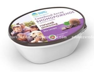 """Биомороженое """"Семейный актив. Горький шоколад"""" на фруктозе, ванна 450 г);"""