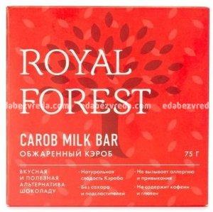 Шоколад из обжаренного кэроба Royal Forest, 75 г
