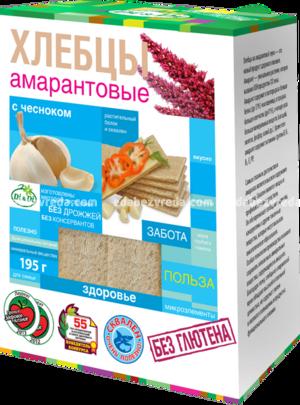 Хлебцы амарантовые DI&DI с чесноком, 195 г.);
