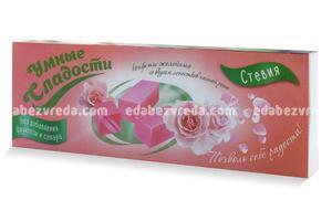 """Конфеты желейные """"Умные сладости"""" без сахара Роза, 90 г);"""