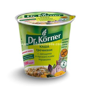 Каша Dr.Korner Гречневая с овощами и прованскими травами, 40 г);