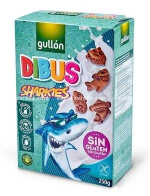 Печенье детское Dibus Sharkies Cacao Gullon без глютена, 250 г.