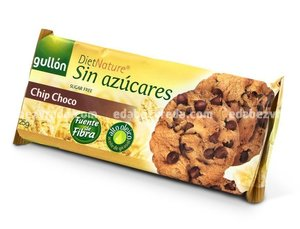 Печенье Gullon Chip Choco без глютена, без сахара, 125 г
