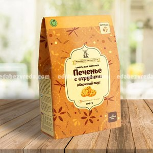 Смесь для печенья с отрубями Diet Bake ЯБЛОКО, 500 г.);